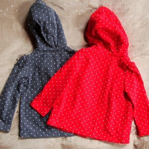 Old Navy Shirts & Tops - LOT OF 2 Twins Old Navy Polka Dot Sweatshirts